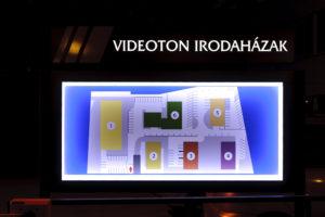 világító tábla irányítótábla reklámtábla irodaház térkép videoton
