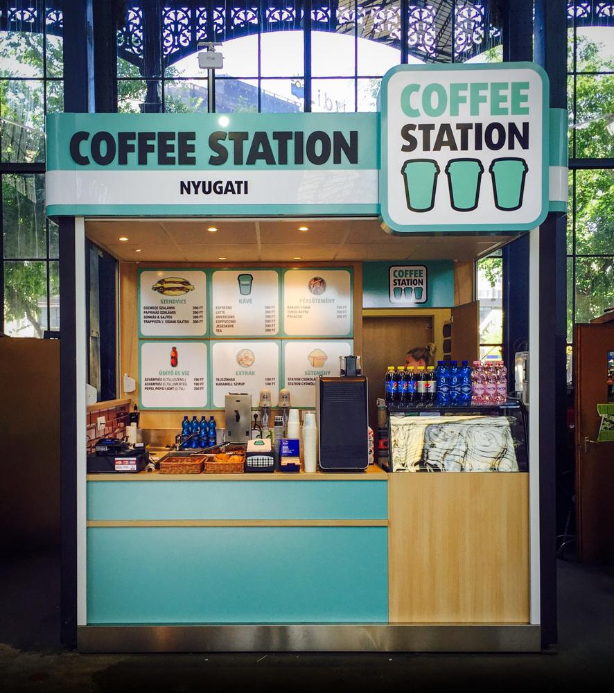 Installációs stand Cofee Station