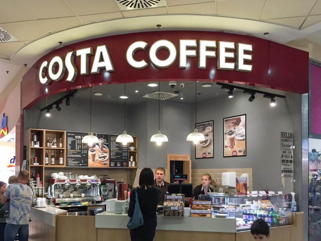 Világítófelirat Costa Coffee