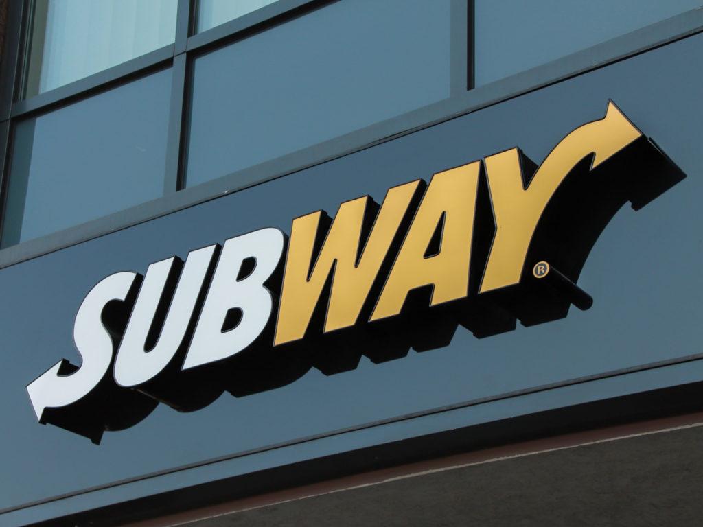 Világítófelirat Subway
