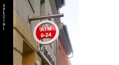 uniquely designed company sign