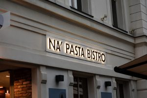 napasta channel letter sign logo Bepro